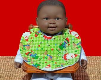 Christmas bib - Christmas clothes - Baby bib - Baby's 1st Christmas - Baby gift - Baby shower gift - Baby Christmas gift - Christmas Elf bib