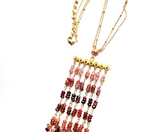 Spinel Nekclace--Multi Color Spinel Necklace--Spinel Jewelry--Gemstone Necklace--Gemstone Jewelry