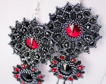 Earrings Red&Black
