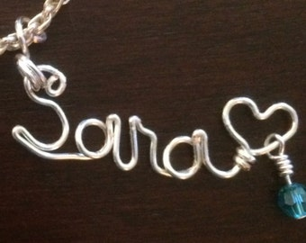 Personalized Wire Pendant