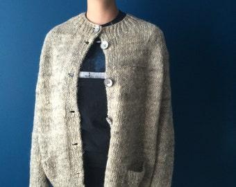 Hand made natural taupe sweater medium