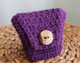Essential Little Crochet Purse - Violet