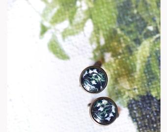 Retro Style glass cabochon cufflinks-cuff links-Cufflinks-Retro Style-12 mm glass cabochon Cufflinks-12 mm