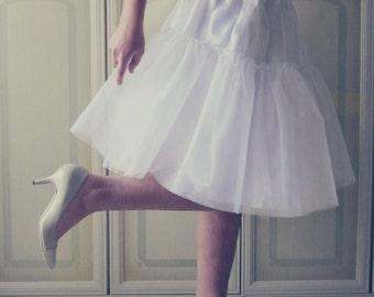 tulle underskirt, petticoat 50 's, white petticoat, underskirt tea length, petticoat 50 years, vintage style, rockabilly, crinoline