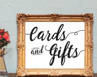 Cards and Gifts wedding sign - PRINTABLE - 8x10 - 5x7