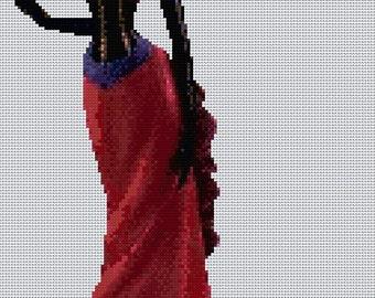 Elegant Lady #13 Cross Stitch Chart
