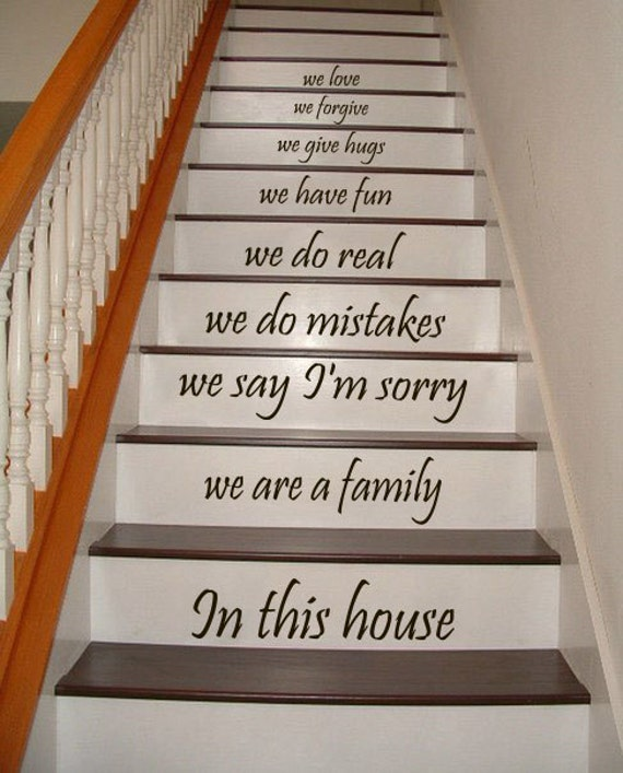Stair Decals Quotes Stairway Decals Quote We Are A Family In