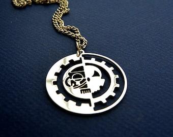 free shipping Adeptus Mechanicus  pendant, Warhammer 40,000 necklace