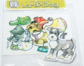 La-Di-Doll Dog - 6 felt outfits, dress up, boys and girls, dogs, velcro, party favor, animal games, dog costumes