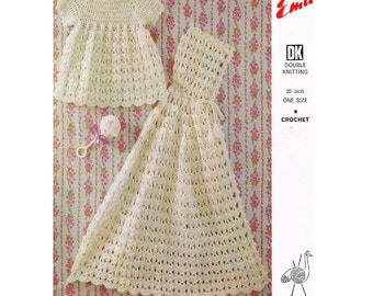 Vintage Pattern Crochet Dress and Carrying Cape PDF Download