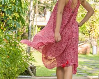 Dewi Sundress, Beach Dress, Sundress, Summer Dress, Womens Sundress, Red Sundress, 112-126