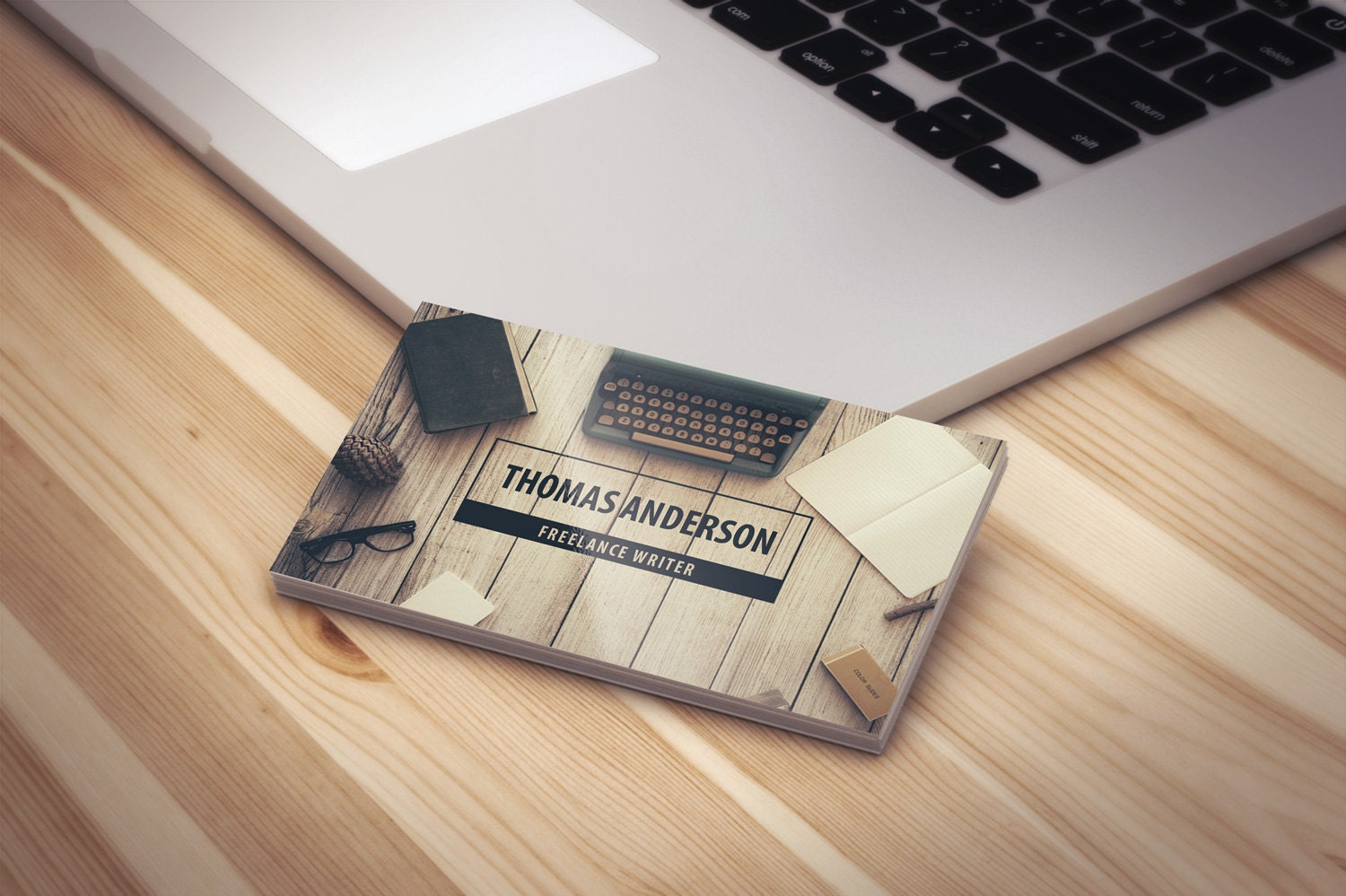 Modern Professional Freelance Writer Business Cards Template