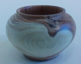 Minature Yew wood vase
