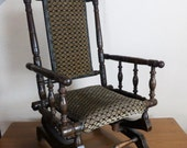 Victorian Childs rocker  Childs American rocking chair  Old childs rocking chair (stock6254)