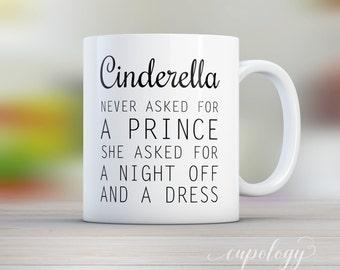 Cinderella Mug, Cinderella Cup, Fantasy Mug, Dress Mug, Gift for Her, Gift for Mom, Mothers day Gift, Sister Gift Idea