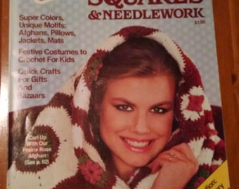 70s Vintage Woman's Day Granny Squares & Needlework magazine