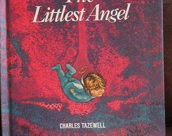 The Littlest Angel-Vintage Children's book-Charles Tazewell-Angel book-old kids book-Christmas-Childrens room-Angels