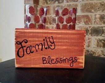 Wood votive holder