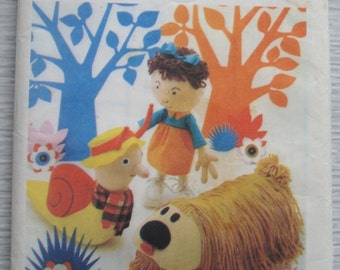 vintage 4885 Style MAGIC ROUNDABOUT toys sewing pattern