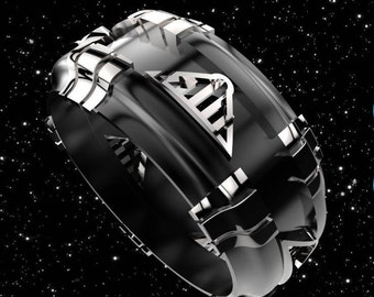 geek wedding ring star wars wedding ring darth vader geek engagement ring - Star Trek Wedding Ring