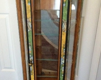 Hand painted refinished Curio Cabinet