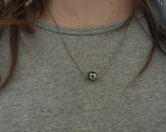 Floating Single Bead Necklace