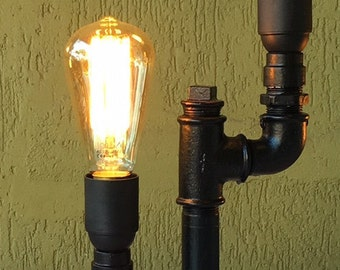 "Industrial Table Lamp ""Double Arm"""