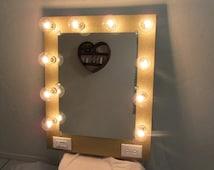 unique vanity light related items etsy. Black Bedroom Furniture Sets. Home Design Ideas