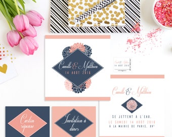 Flowers power stationery and wedding invitations