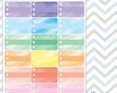 Watercolor Collection ~ Half Checklist Boxes ~ Planner Stickers