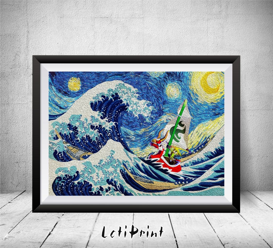 Zelda starry night zelda print the great wave kanagawaa zoom amipublicfo Choice Image