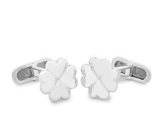 Clover sterling Silver Cufflinks