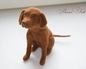 Custom Felted Vizsla, Vizsla, Vizsla Puppy, Felted Dog,  Needlefelted Animal, (Made to order )