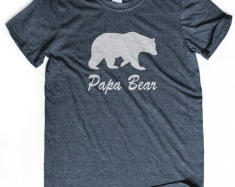 DAD GIFT papa bear t-shirt Papa tshirt Fathers day gift New grandpa gift Husband gift Papa bear tshirt Grandfather gift Father's day gift