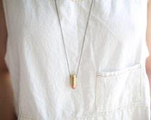 9mm Short Full Metal Jacket Brass Shell Case Bullet Necklace