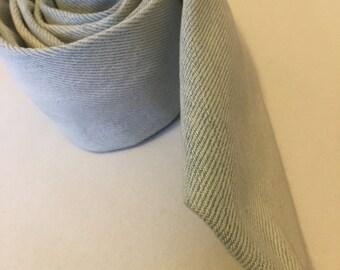Great British Bespoke Handmade Custom Couture Denim Skinny Tie