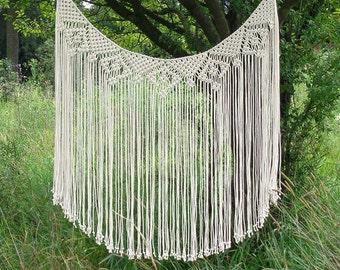 Macrame curtain, bohemian decor, wedding backdrop, macrame wall hanging, hippie decor