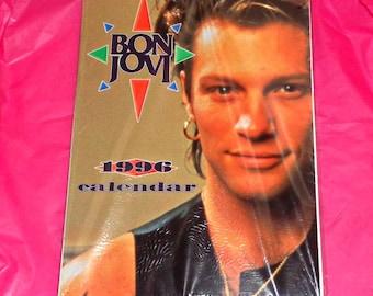 Bon Jovi Unofficial Oliver Books 1996 Calendar Music Memorabilia Collectable Jon Bon Jovi Rock Band New Jersey America Full Page Photos