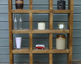 Pigeon hole shelving unit - handmade from reclaimed wood