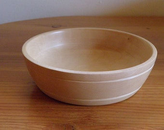 Curly Maple bowl, Handturned, One of a Kind
