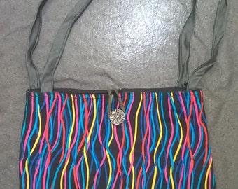 Striped Upcycled Shoulder Bag