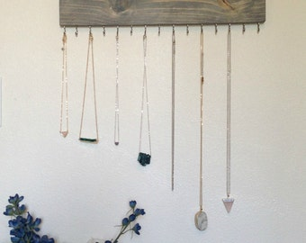 Necklace Display Rack, Necklace Organizer, Necklace Storage Shelf