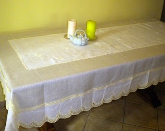 pure linen table runner with linen runner decorated