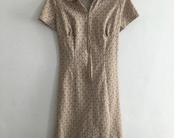 1960's A- line zip front shift dress