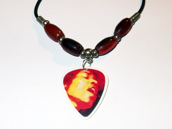 jimi hendrix are you experienced guitar pick necklace. Black Bedroom Furniture Sets. Home Design Ideas