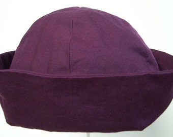 Children's Plum Hat with Turned-up Brim