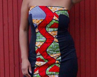 Wax print combo DRESS