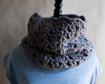 The Ludlow // chunky, lacy crocheted cowl neckwarmer // available in many color options