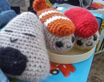 Crochet Amigurumi Sushi and Onigiri