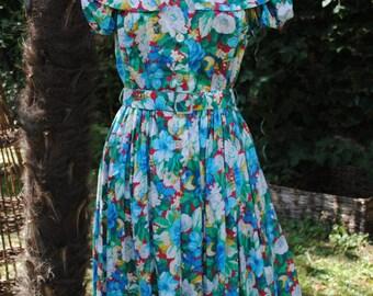 Flowery dress 1980